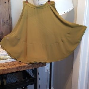 H&M Olive Green Circle Skirt, size 6